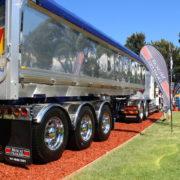 Chromed wheels on trailers