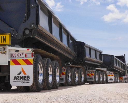 Chromed rims on trailers