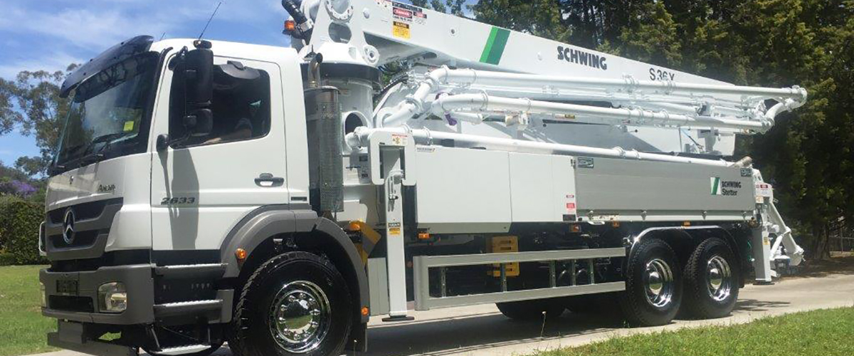 Concrete-pump-truck